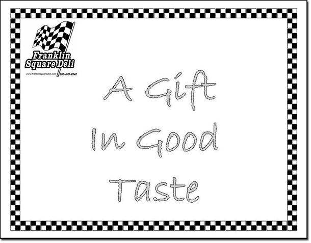 Franklin Square Deli Gift Certificates
